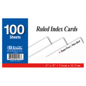 Ruled Index card