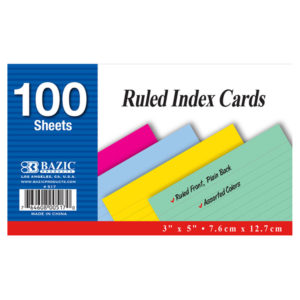 Ruled Index Card Colored