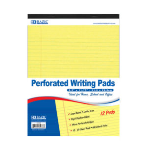 Perferated Writing Pad