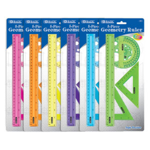 Geometry Ruler Combination Set